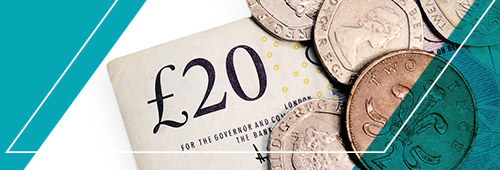 £20 cash graphic