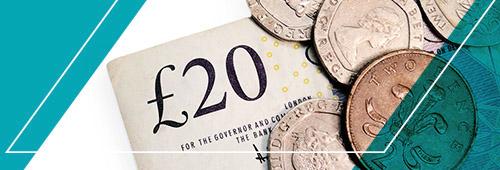 £20 cash graphic