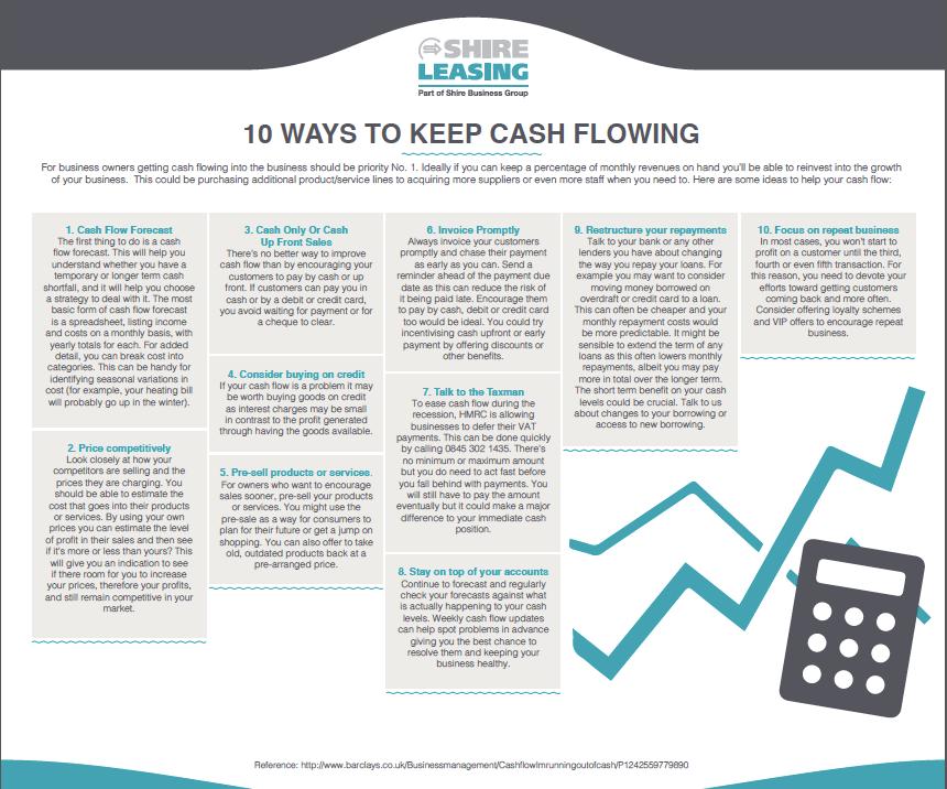 10 ways to keep cash flowing