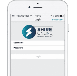 Shire Online app on iPhone