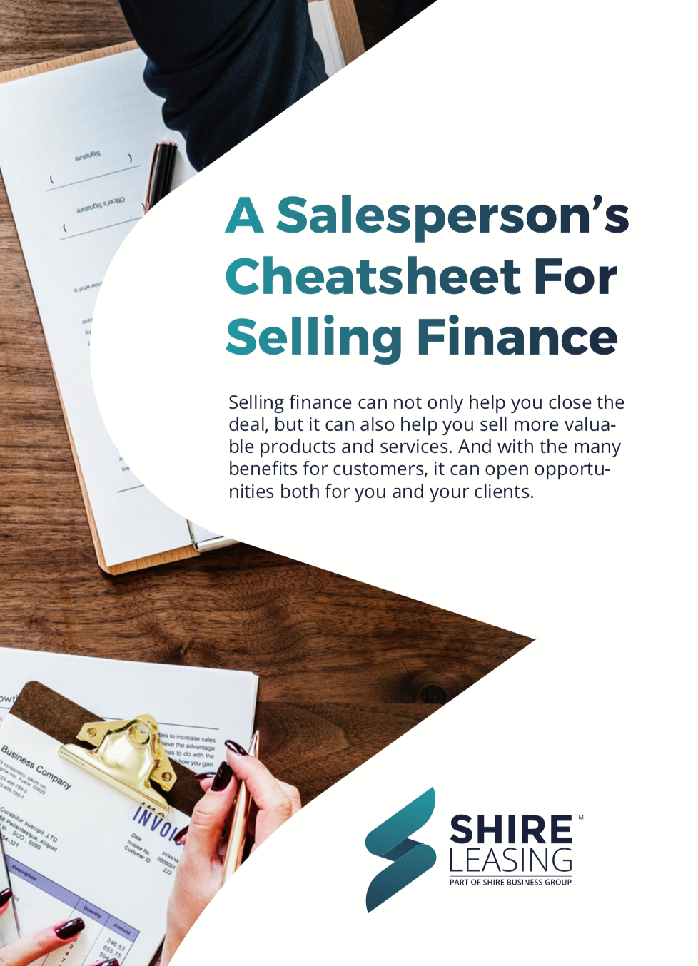 Cheat sheet for selling finance