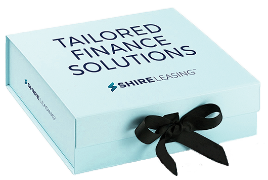 Shire Leasing tailored finance solutions gift box